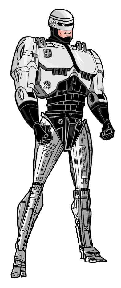 Robocop drawing. Updated by alexbadass on