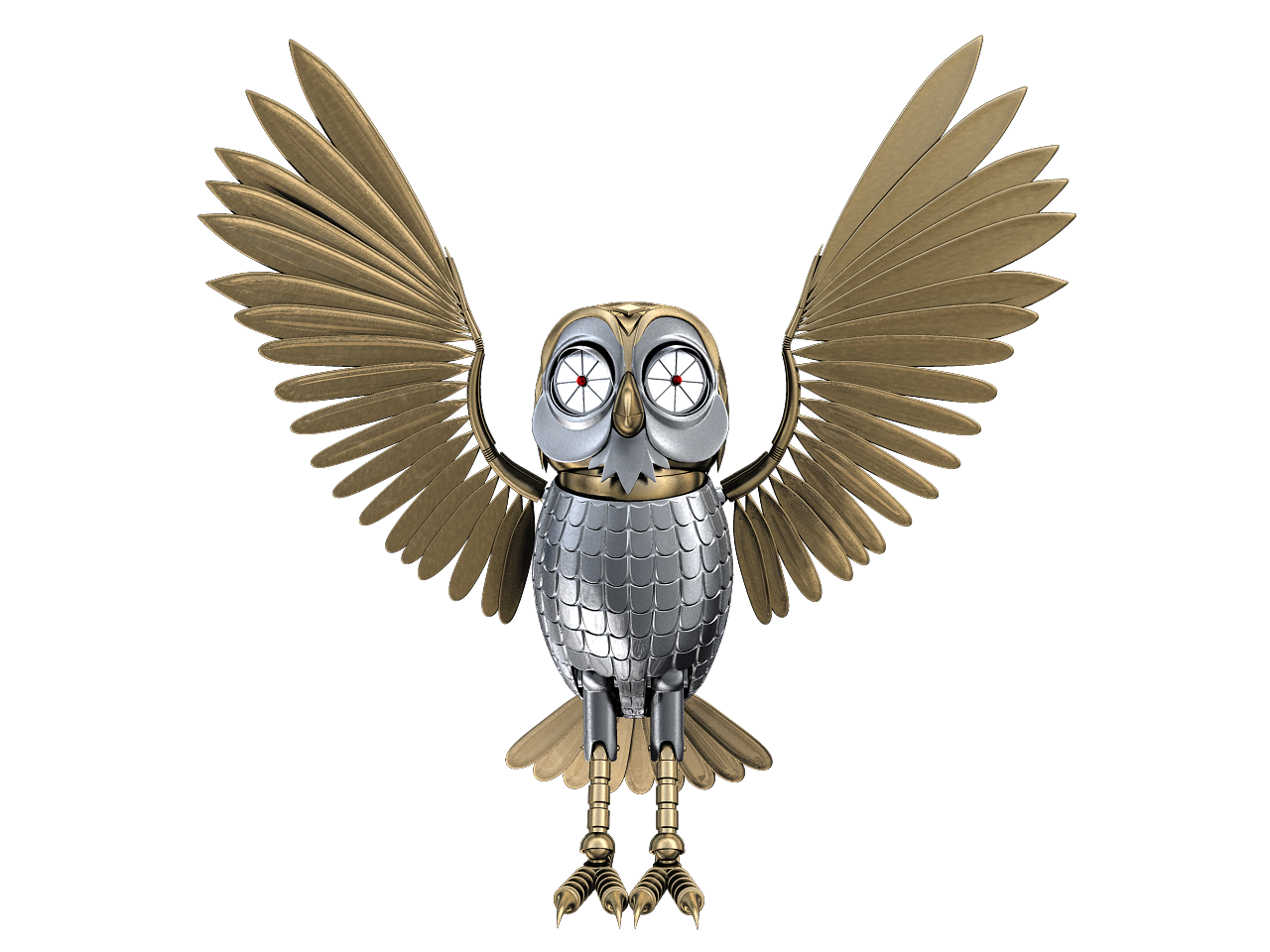 Robot wings png. How do owls twist