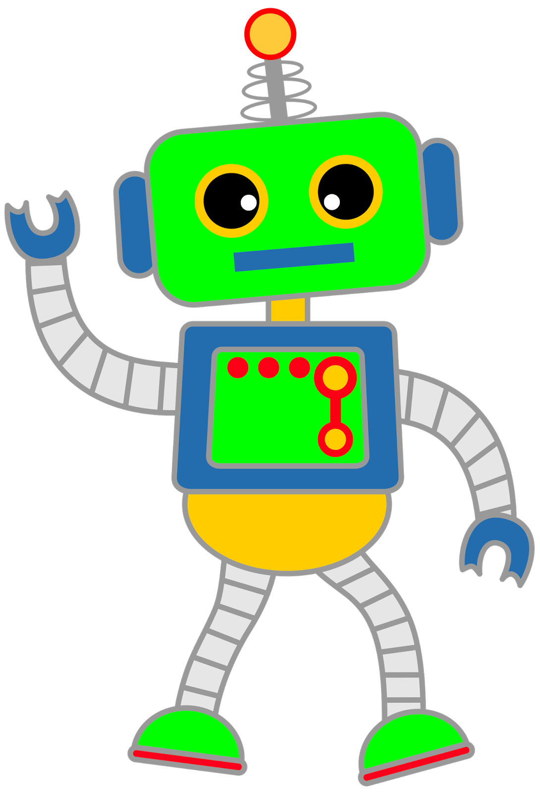 Robot clipart. A selection of robots