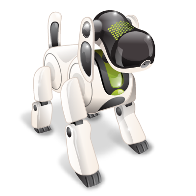 Robot dog png. Technology icon