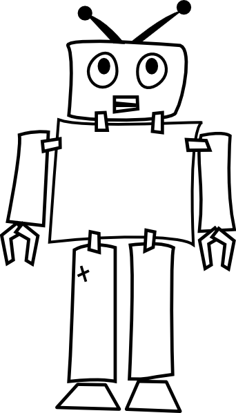 Robot drawing png. Outline clip art at