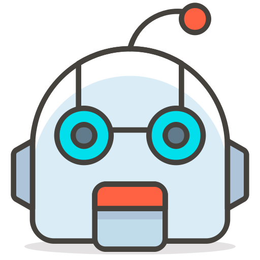 Robot face png. Icon