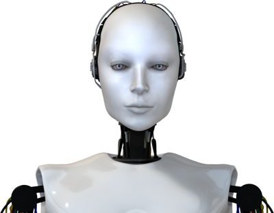 Robot face png. Woman sound pack