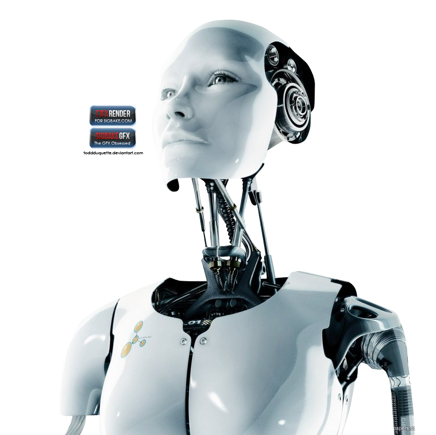Female robot png. Render by tjfx on