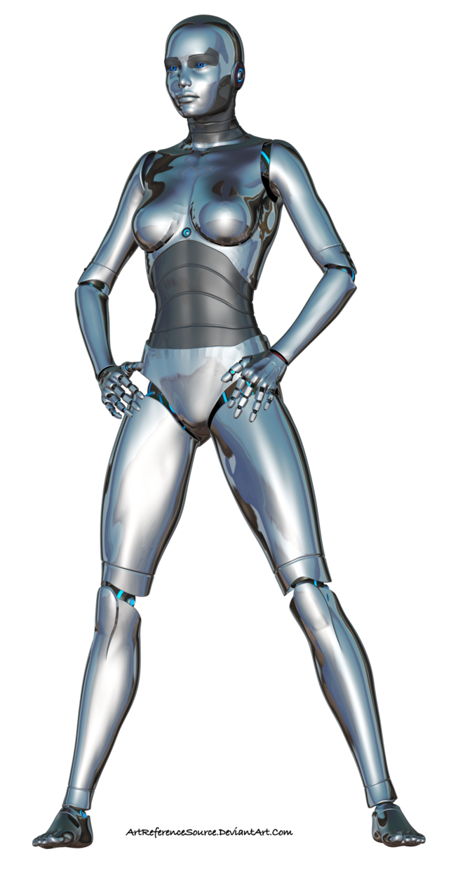 Female robot png. Free stock d render