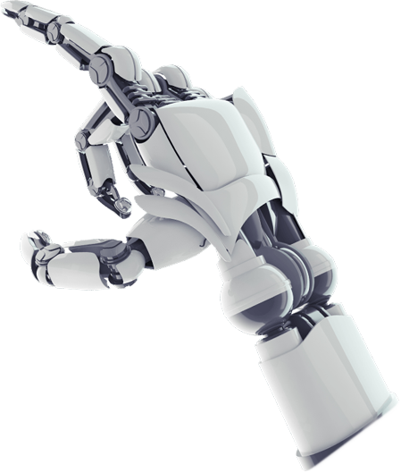 Robot hand png. Solutions test automation tool