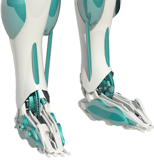 Robot foot png. Bionic you how can