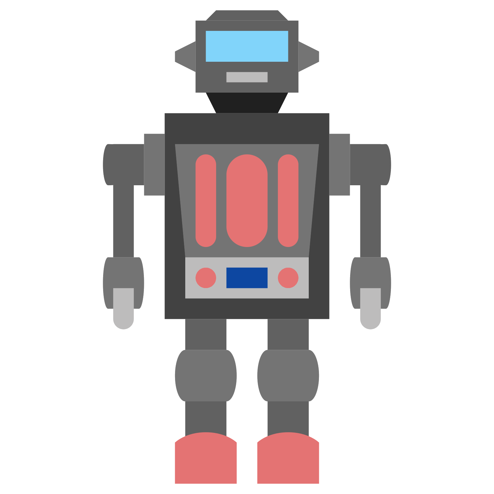 Vector robots flat. Mr hustler robot icon