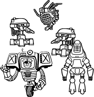 7 Robots Drawing For Free Download On Ya Webdesign