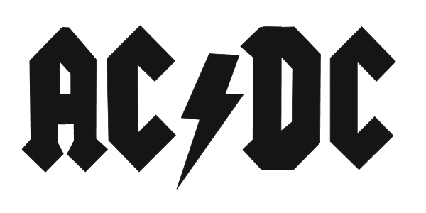 Rock band logo png. Ac dc and roll