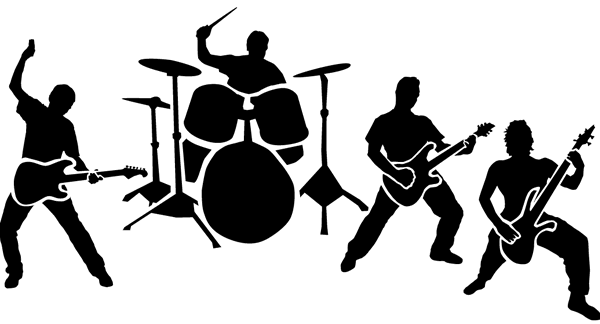 Rock band png. Clipart music dance pinterest
