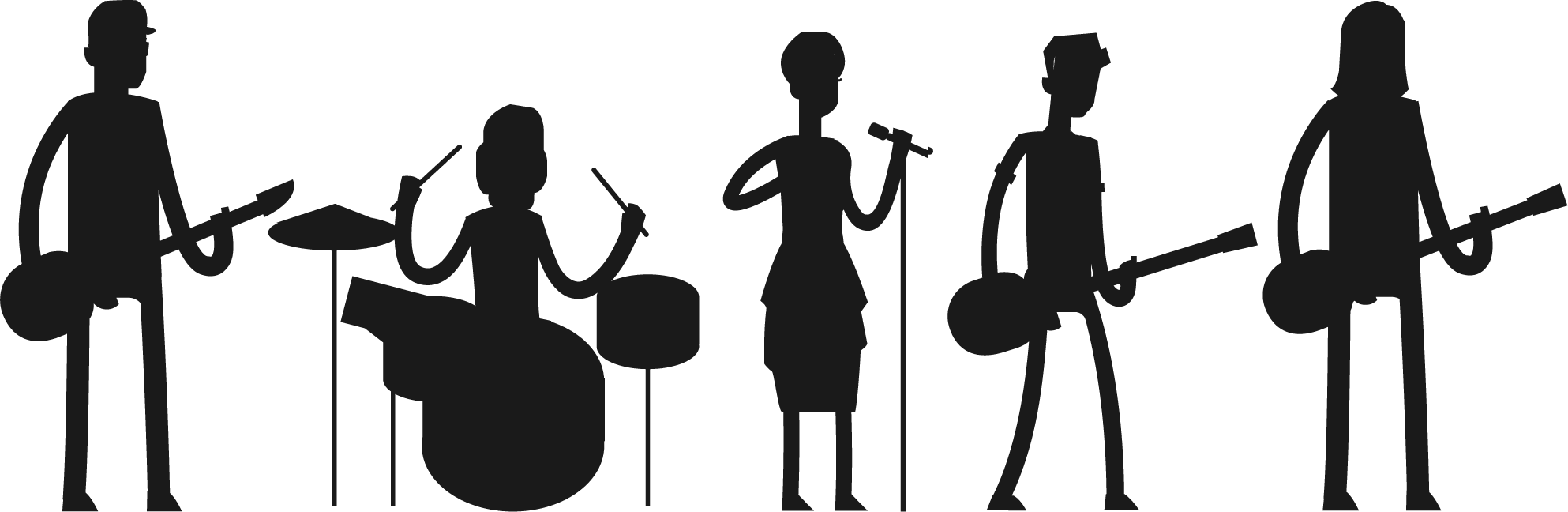 Rock band silhouette png. Pop transparent images pluspng