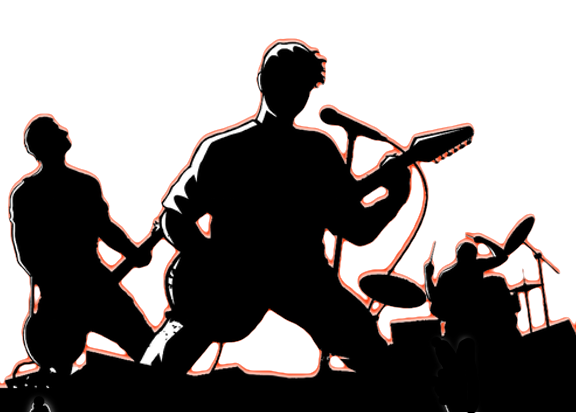 Rock band silhouette png. At getdrawings com free