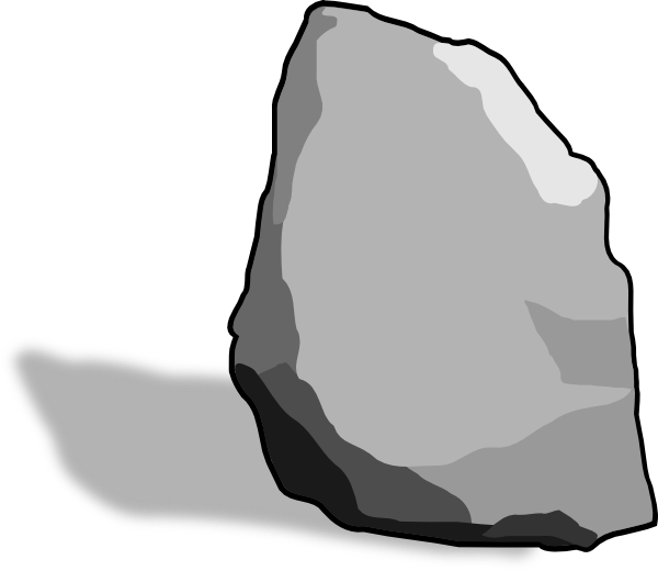Boulder vector rock. Free cliparts download clip