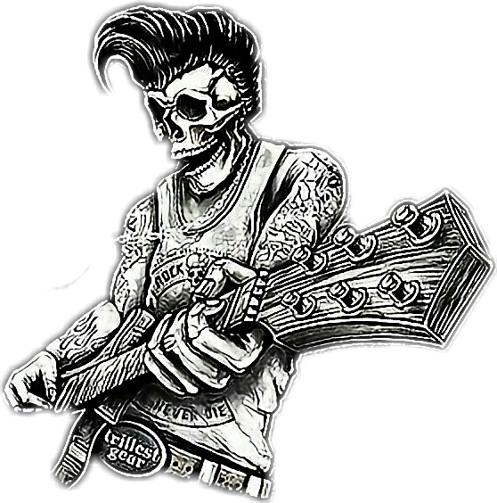 Rockabilly drawing. Rock rockmusic and roll