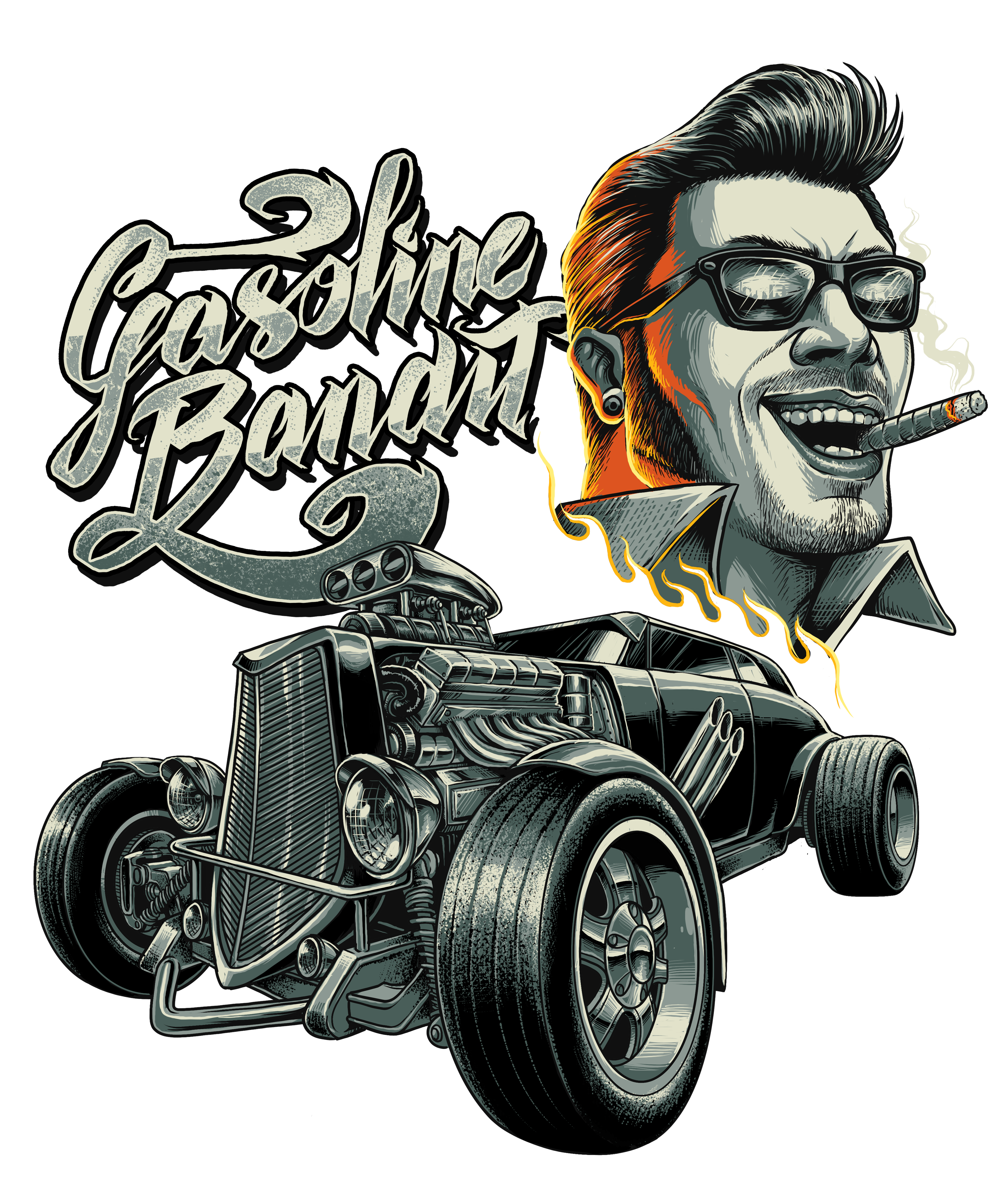 Rockabilly drawing. Spirit we are the