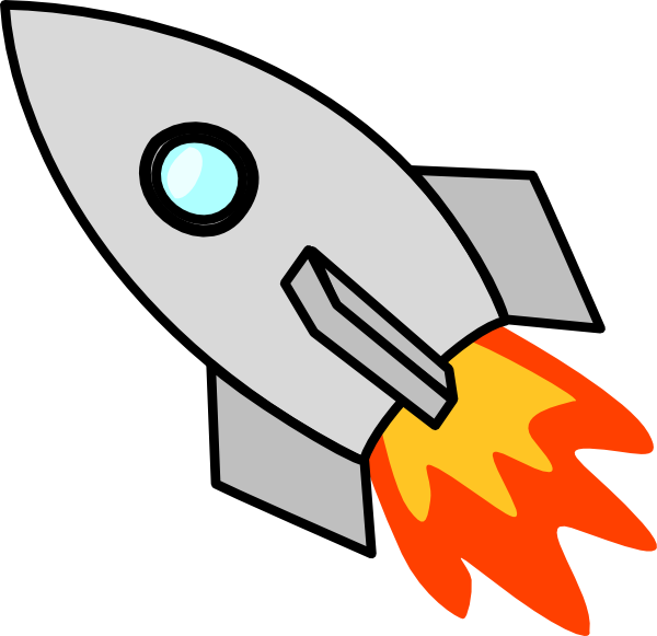 Spacecraft drawing art. Icarus rocket clip at