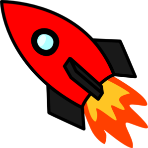 rocket clipart red rocket