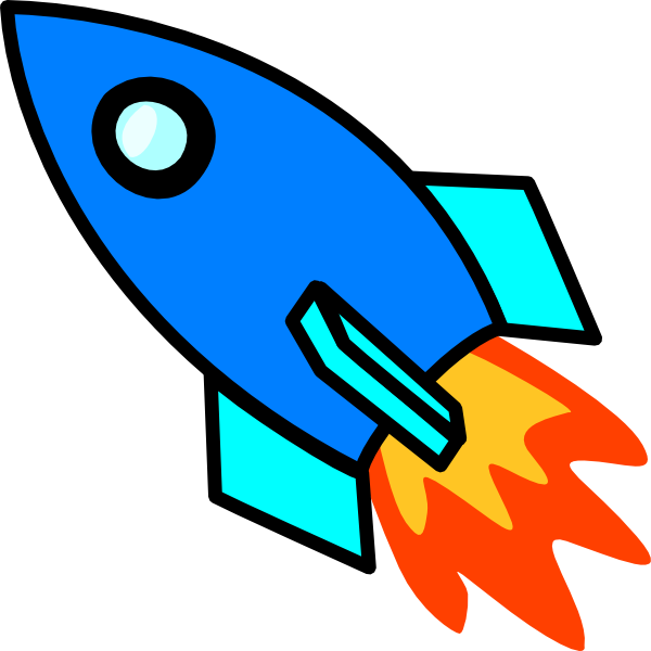 collection of rocket. Spaceship clipart blue picture freeuse library