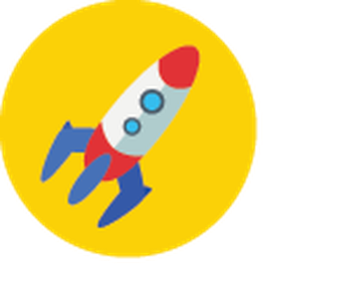 Rocket clipart science rocket. Icons yellow and blue