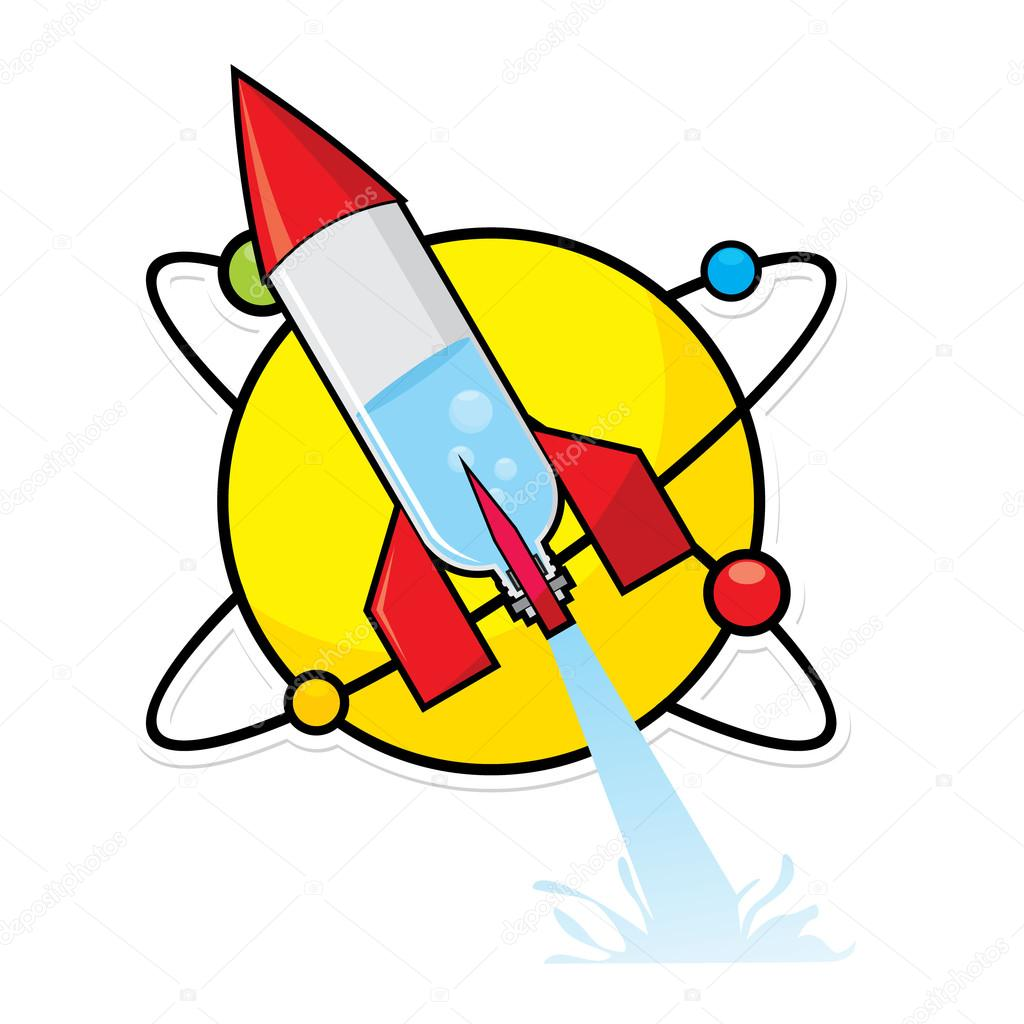Rocket clipart science rocket. Project water bottle stock