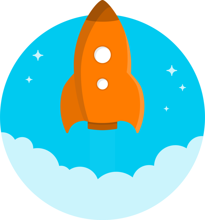 Rocket launch spacecraft computer. Spaceship clipart blue png library library