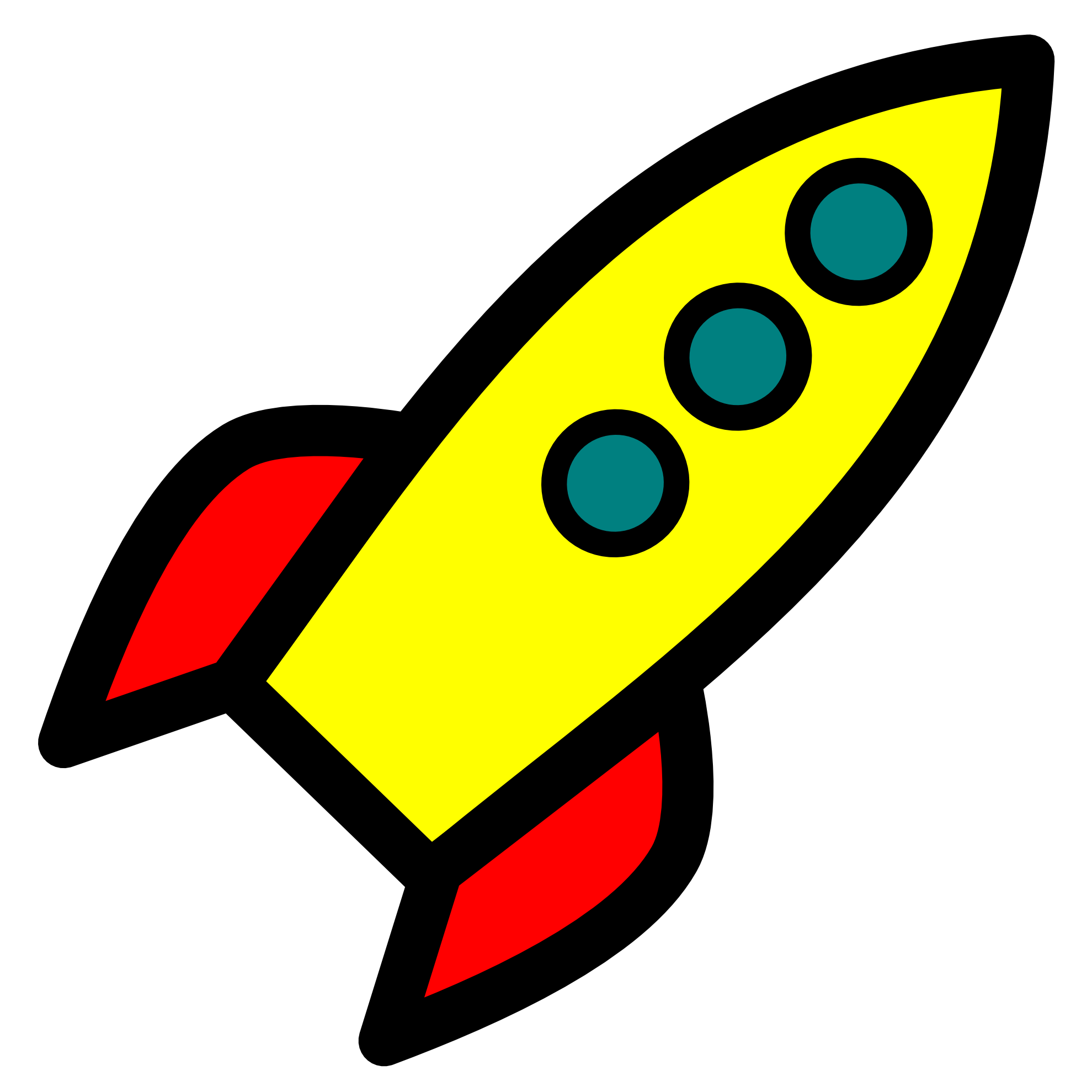 Rocket clipart spaceship. Ship pencil and in