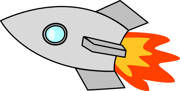 Rocket pencil and in. Spaceship clipart banner library download