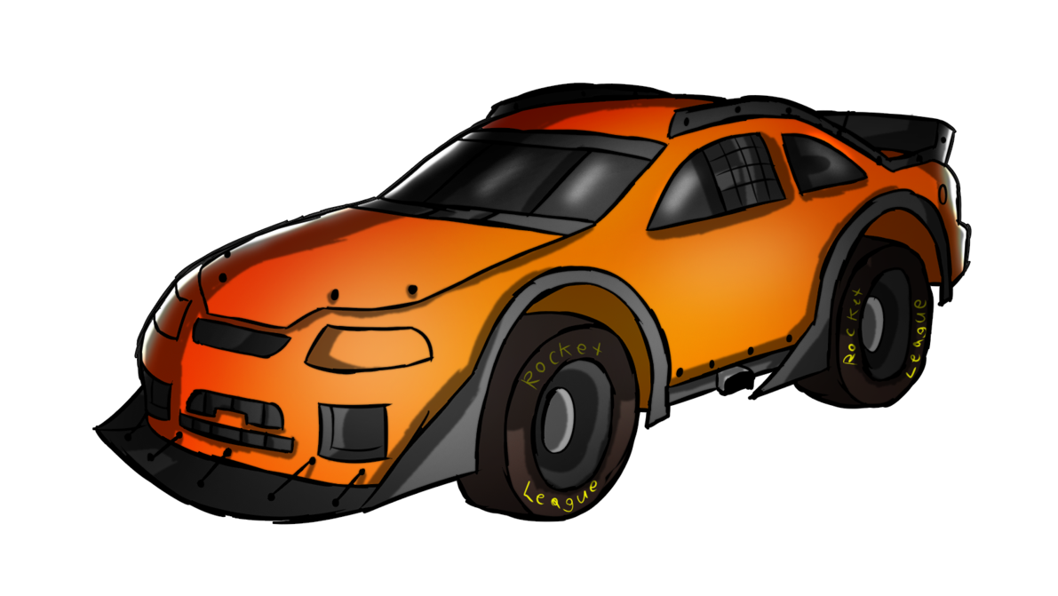 Rocket league car png. Stock front view by