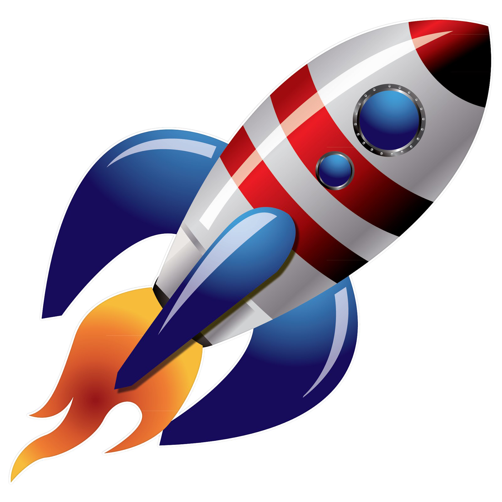 Rocket png. Space image transparent background