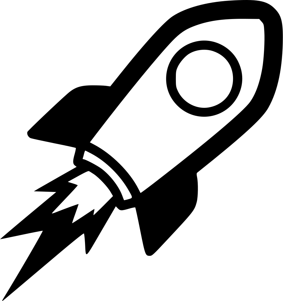 Rocket png icon. Seo launch campaign startup