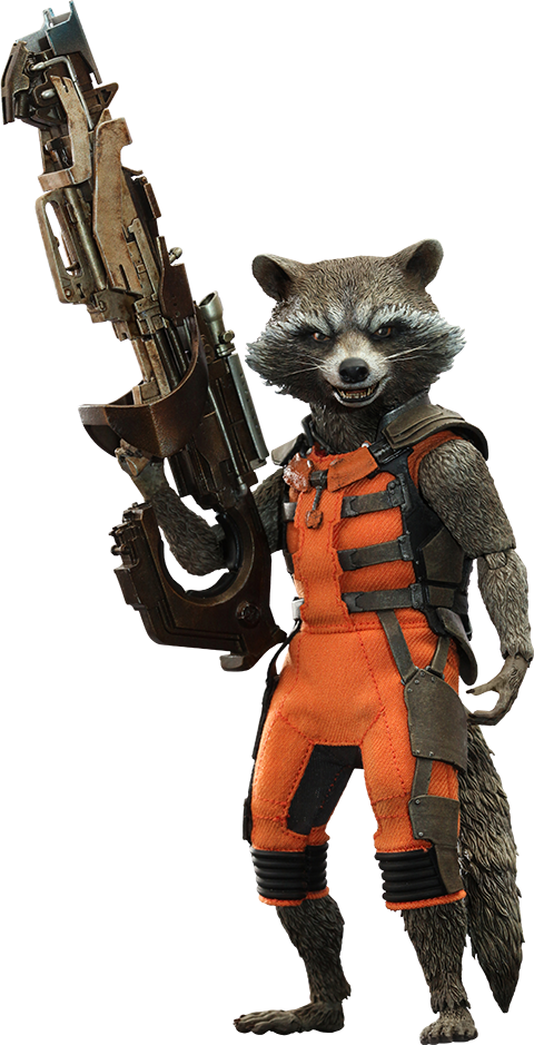 Rocket png marvel. Hot toys sixth scale