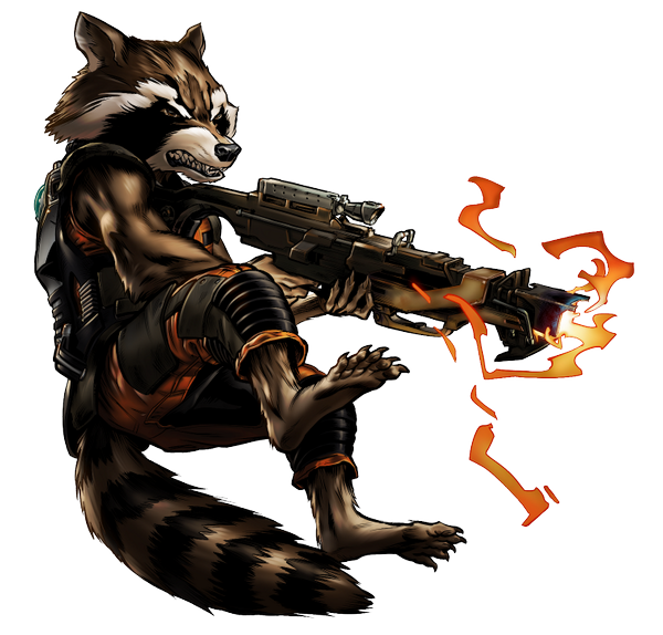 Rocket raccoon png. Image guardian portrait art