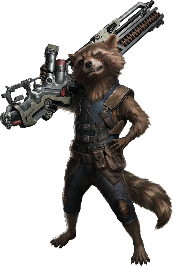 Rocket raccoon png. Avengers infinity war by