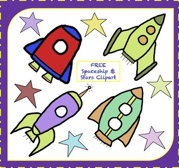 Free rocketship stars. Spaceship clipart picture transparent stock