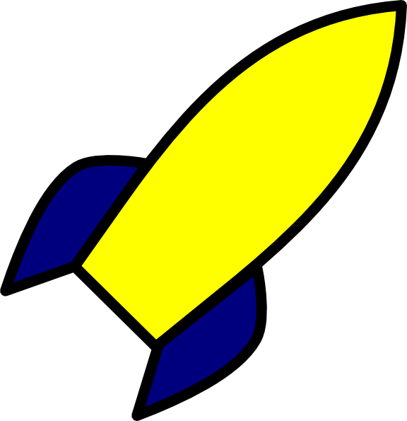 Yellow rocket. Ship clipart the cliparts