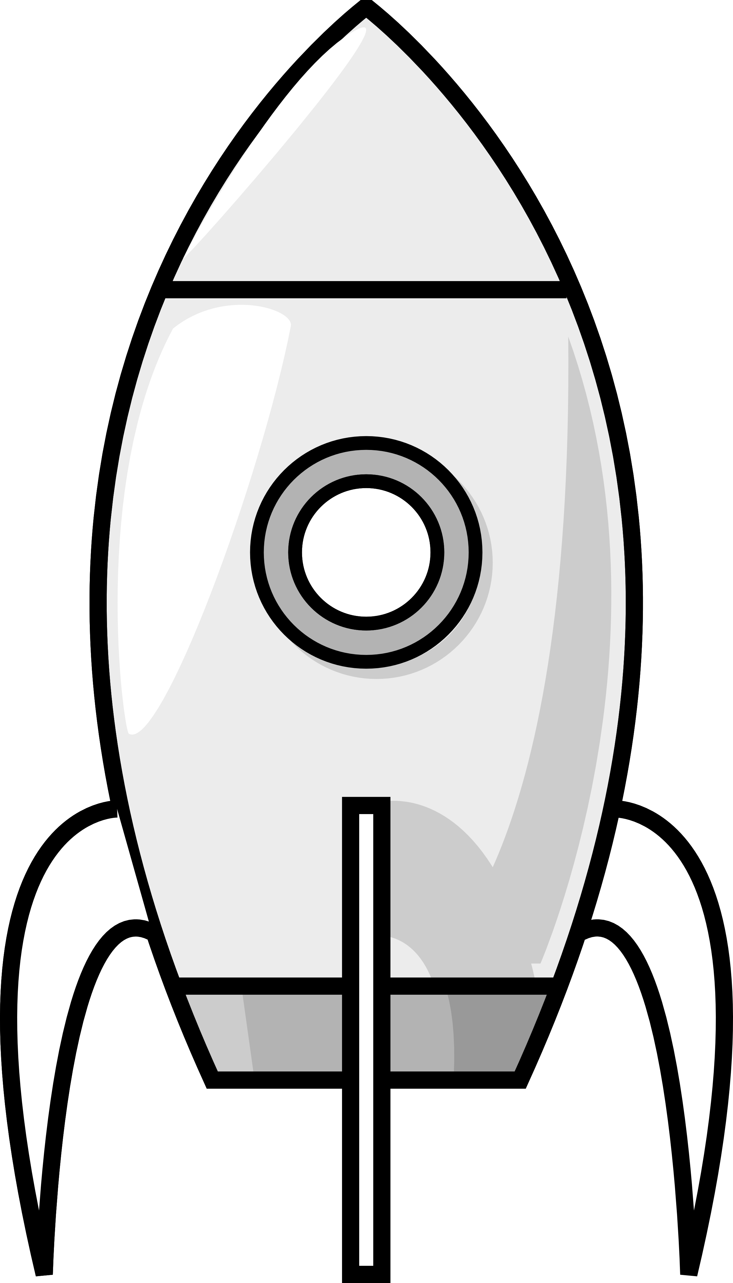 Rocket clipart black and. Spacecraft drawing futuristic spaceship png black and white