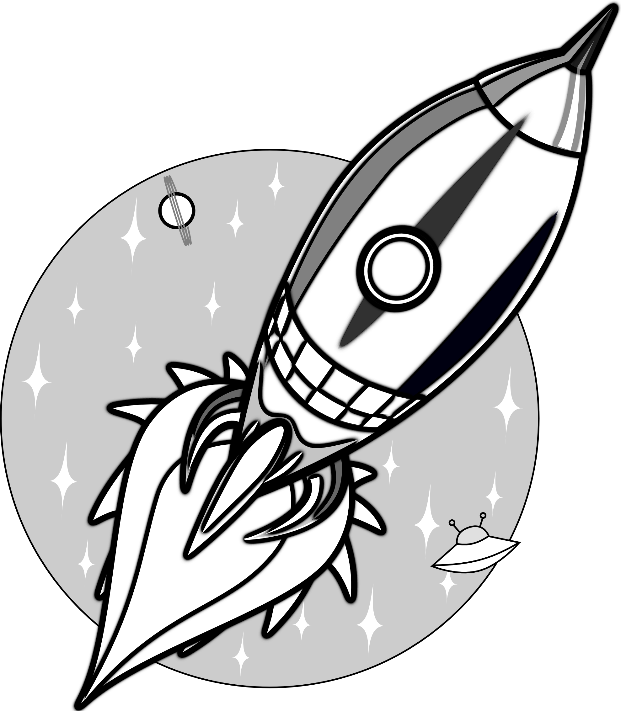 Rocketship clipart black and white. Images for rocket clip