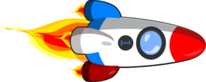 Rocketship clipart blue rocket. Ship red white and