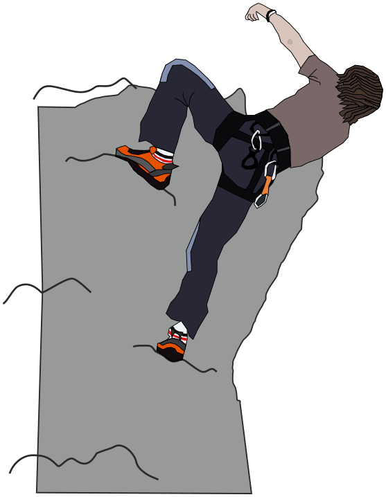 Climber clipart rock wall. Free climbing cliparts download