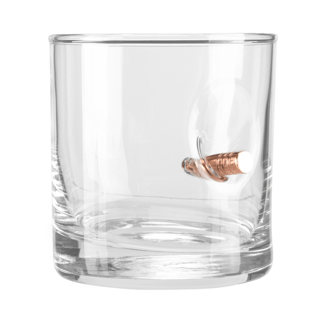 Rocks glass png. With real bullet materialized