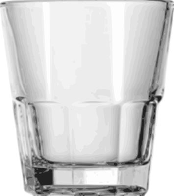 Rocks glass png. Double household kitchen glasses