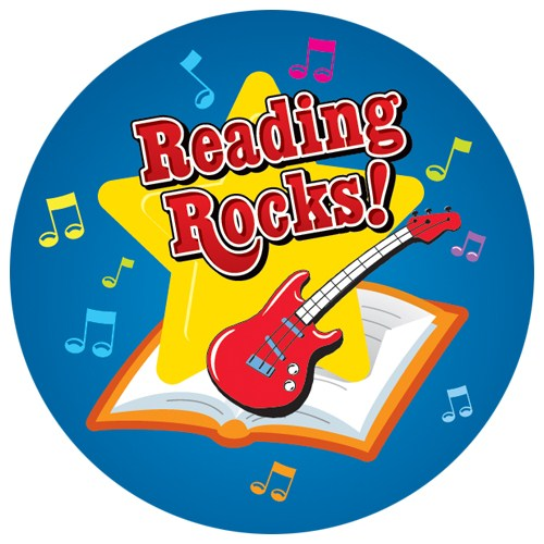 Reading rocks this summer. Rockstar clipart pet rock picture stock