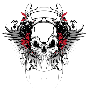 Rockstar drawing skull. Rocking editing effects and