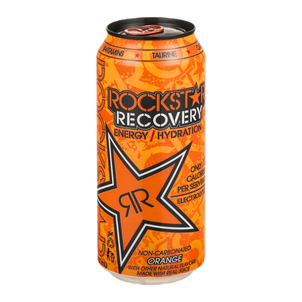 Rockstar energy drink png. Recovery orange reviews