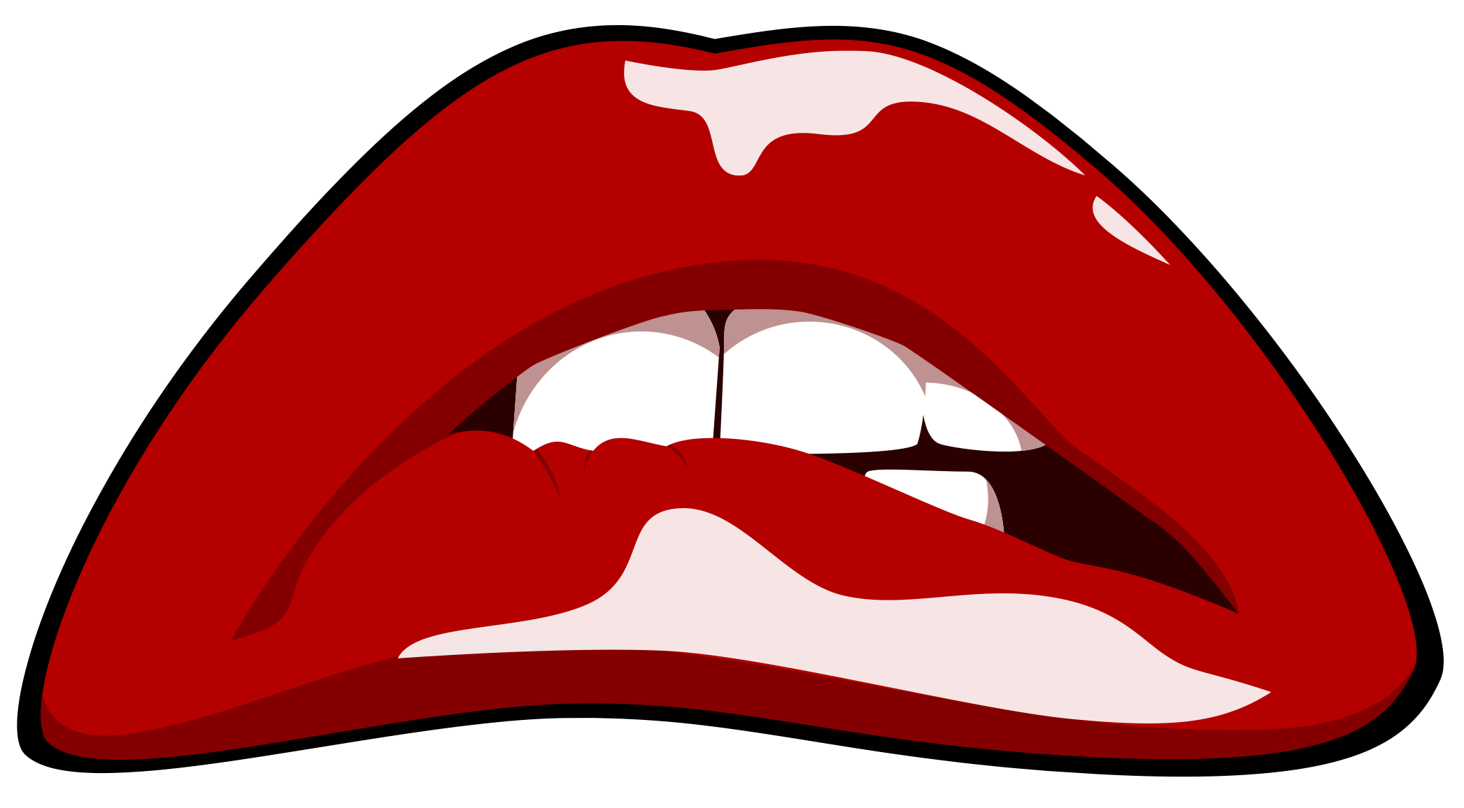 Rocky horror lips png. Collection of drawing