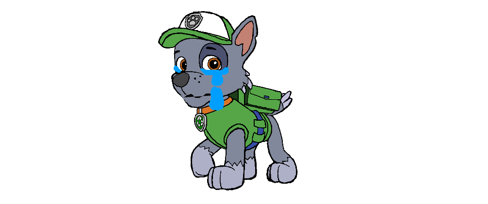Rocky paw patrol png. Image crying fanon wiki