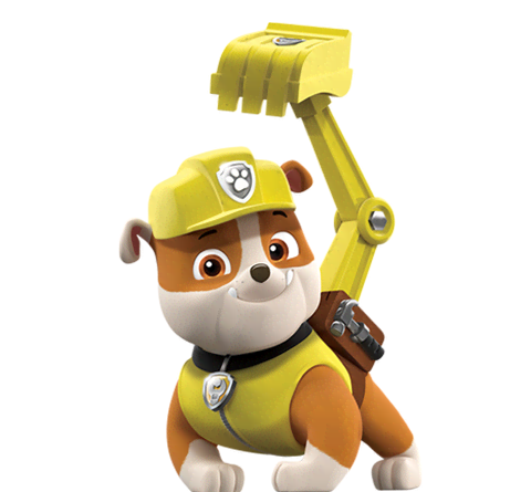 Rocky paw patrol png. Rubble from nick asia