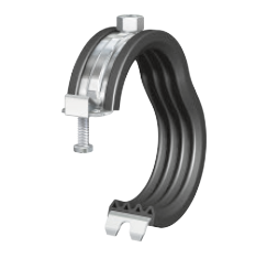 Rod clip plastic pipe clamps. Rubber lined clips flamco