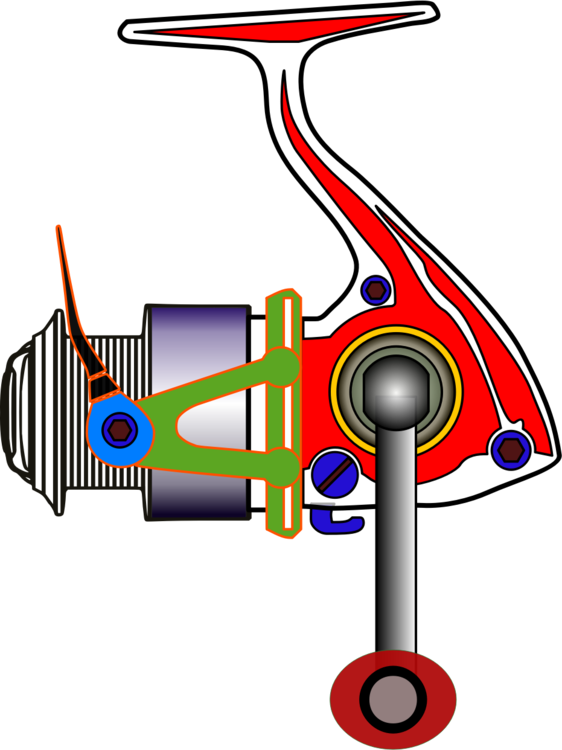 Spin clip clipart. Fishing reels rods baits